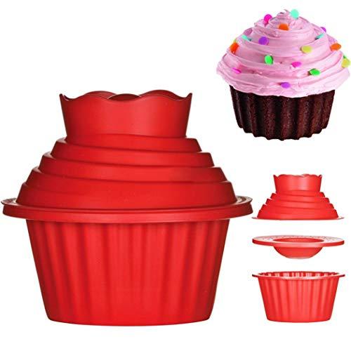outgeek Riese Cupcake Schimmel Kreativ Silikon Dekorativ Kuchen Schimmel Backen Schimmel