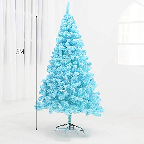 Blue Artificial Christmas Tree, Pvc Christmas Pine Tree Foldable Ornaments Easy Assembly Xmas Tree Christmas Decorations-h 300cm / 12ft