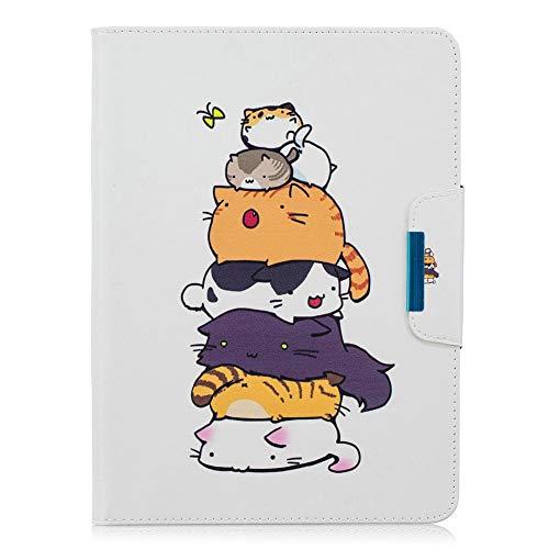 Coopay beschermhoes van leer voor tablet Samsung Galaxy Tab 4 10.1 SM-T530/T535, pour Samsung Tab 4 10.1, Motif - 31