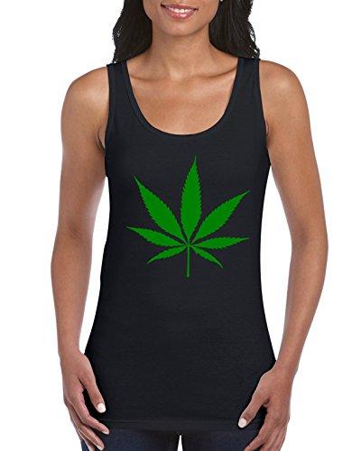 TRVPPY Cannabis - Camiseta de tirantes para mujer Tallas: S-XXL. Negro  L