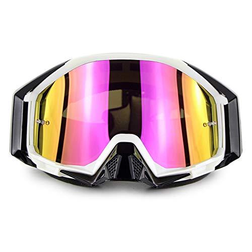 Lunettes de Ski de Snowboard Protection UV Anti-buée Lunettes de Ski de Snowboard Ventilation améliorée Coupe-Vent pour Homme,Femmes,Compatible avec Le Casque Lunettes de Neige,A