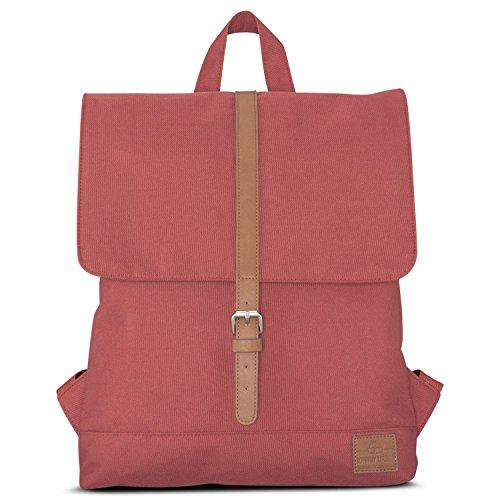 Johnny Urban Mochila Para Mujer Rojo/Marrón, Modelo MIA, Bolsa Pequeña De 7 Litros, Impermeable Con Compartimento Para Portátil