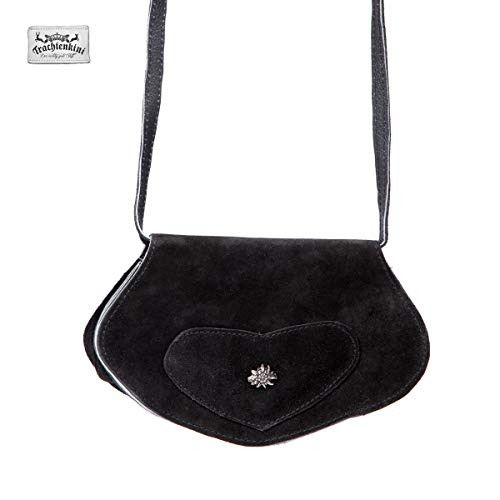 Trachtentasche Edelweiß (schwarz)
