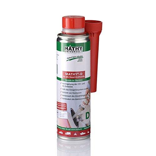 MATHY-D Diesel System Reiniger, 250ml - Diesel Additiv - TÜV geprüft - Brennraum Reiniger - Diesel Zusatz - Einfache Anwendung über den Tank - Kraftstoffadditiv