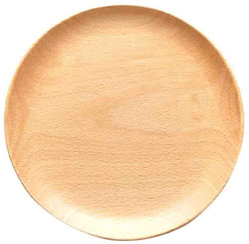 YNHNI Fruit Plate en Bois Plaque de légumes Noix Pain aux Fruits Biscuits Assiette Assiette à Dessert en céramique gâteau Famille Disque Plaque de Salade de Plaque Plateau