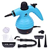 MLMLANT Multipurpose Handheld Steam Cleaner, 1050W Portable Steamer with 9-Piece Accessory Set, Pressurized Steam Cleaning Machine with Safety Lock, for Kitchen Bathroom Windows Auto Floors Sofa Carpet Upholstery, More (Blue)