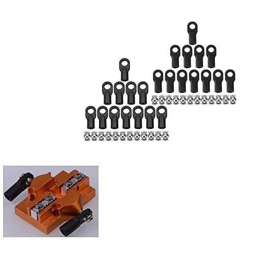 BRIGHTZ 3D-Druckerteil, 3D-Drucker-Zubehör, 3D-Drucker Teil M3 / M4 Parallelarms Carbon-Rod Gelenkkugel Buckle Kit Drucker