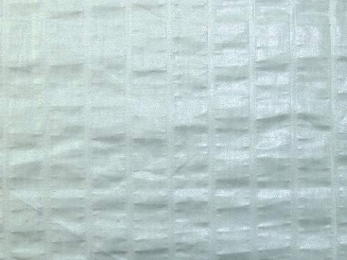 Minerva Crafts Glazed Stripe Cotton Fabric Mint Green - per metre