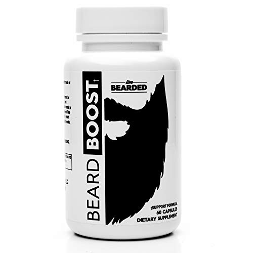 Live Bearded Beard Boost, Beard Growth Vitamins For Men That Increases Growth Rate, Strengthens And Nourishes Your Hair To Give You A Bigger, Thicker, Fuller And Healthier Beard (30 Day Supply)