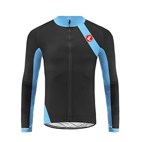 Uglyfrog Maillot Cyclisme Homme Vêtement VTT Hiver Thermique Tenue Vélo Manches Longues Equipe Pro
