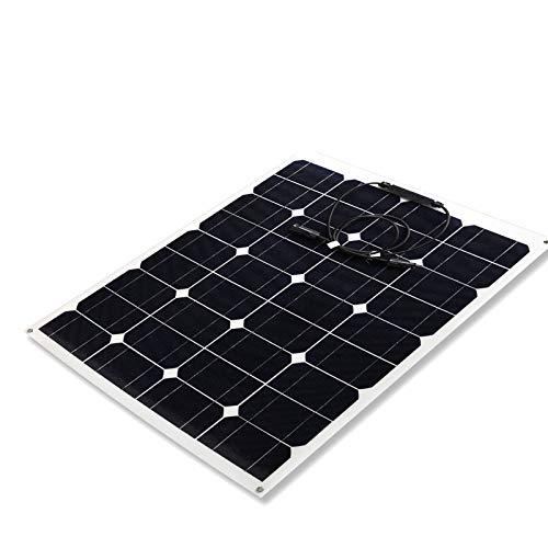YYANG Solarpanel Photovoltaik-Panel Montage Monokristallines Silizium 50W 12V Solarpanel Kann Gebogen Werden
