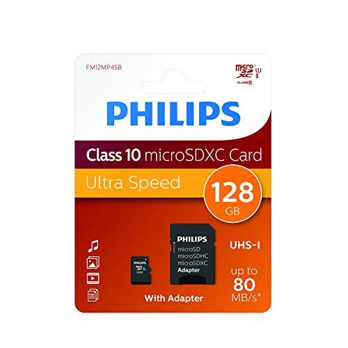 PHILIPS Micro SDXC Card, 128GB USH-I U1i (fm12mp45b10)