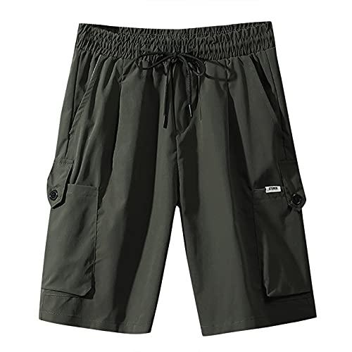 GenericBrands Taurner Pantalones Tipo Cargo Pantalones Cortos Hombres Pantalón de Deporte con Bolsillos Cargo Shorts para Correr