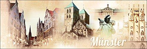 Pro-Art g1735e Cuadro impresión 'Münster' 150 x 48 cm, Multicolor, 120 x 40 cm