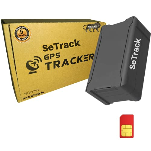 SeTrack Wireless GPS Tracker with Voice Monitoring Waterproof Magnetic 10000mAH Device (Make in India) with Android and iOS Mobile App with Anti Theft Alarm for Car, Bike, Kids Bag, Elders, Women