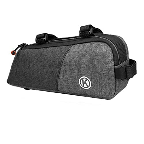 Bike Frame Bag Waterproof Bicycle Pouch Cycling Bicycle Front Top Tube Bag Kit Tool Storage Bag Bike Saddle Bag Cell Phone Pouch Organizer Bag Outdoor Mountain Bike Portable