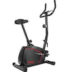 Smooth & Quiet: Advanced magnetic brake system provides you with a smooth full-body workout, while the upright exercise bike itself runs quietly, meaning you won't disturb others in the household. Comfortable Riding: The cushioned seat has several he...