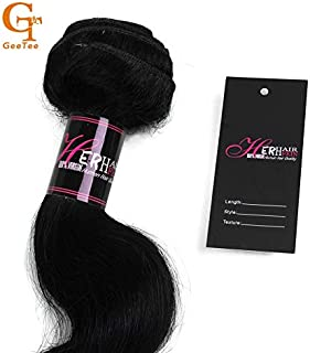 Lysee Virgin Hair Bundle Packaging Paper Hang tag and wrap Stickers Sets.Self Adhesive Bundle wrap Stickers,Hair Tags with Hair Care