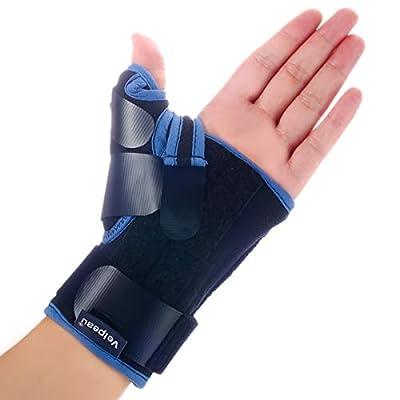 Velpeau Wrist Brace with Thumb Spica Splint for De Quervain's Tenosynovitis, Carpal Tunnel Pain, Stabilizer for Tendonitis, Arthritis, Sprains & Fracture Forearm Support Cast (Short, Left Hand -M)