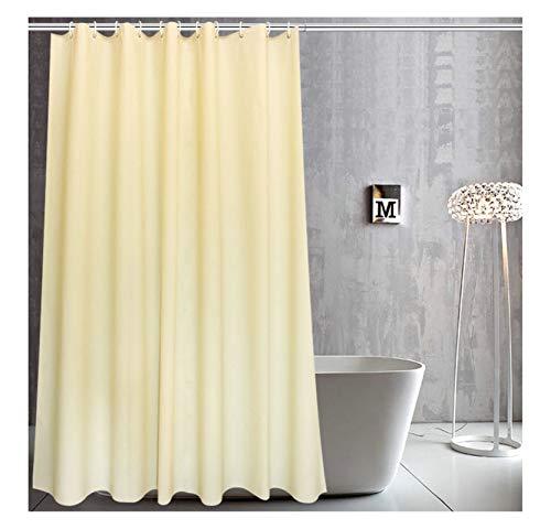 Daesar Wasserdicht Duschvorhang 150x200 cm Gelb Rechteck Duschvorhang Antischimmel aus Polyester-Stoff