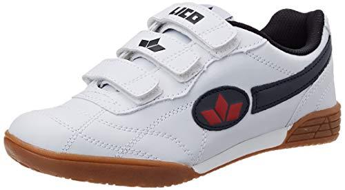 Lico Bernie V - Zapatillas deportivas para interior de material sintético infantil, Blanco (weiss/marine), 40