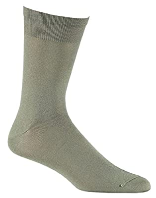 Fox River Wick Dry Auras Ultra-Lightweight Liner Crew Socks, Olive, Large