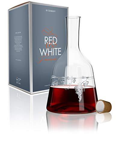 Ritzenhoff Red & White Weinkaraffe, Glas, Mehrfarbig, 15 cm
