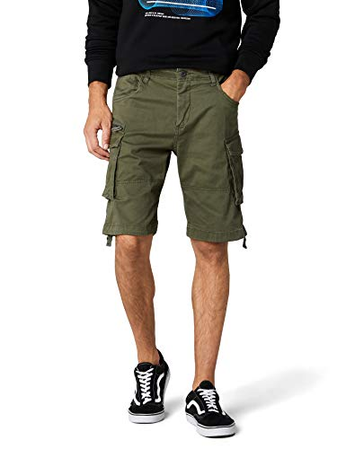 JACK & JONES Herren JJICHOP JJCARGO AKM 429 STS Shorts, Grün (Olive Night Olive Night), 50 (Herstellergröße: M)