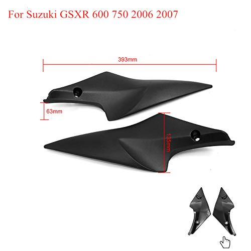 AUTOVIC Motorcycle Black Tank Side Fairing Panel Gas Tank Cover Trim For Suzuki GSXR 600 750 2006 2007 06 07 K6 Tank Side Cover Panel Fairing