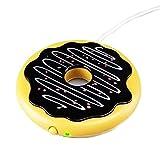 JF-XUAN Coaster USB Taza Mat Galleta cojín de calefacción del buñuelo Caliente Coaster Regalos del Ministerio del Interior Leche Caliente Artefacto Coaster Set (Color: Chocolate, tamaño: 10,8)