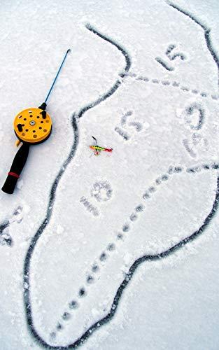 Notebook: Ice fishing rod jigger map Aland Finland fish rod reel sinker hook line water Nth America