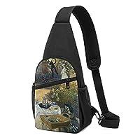 昼食 斜め掛け ボディ肩掛け ショルダーバッグ ワンショルダーバッグ メンズ 多機能レジャーバックパック 軽量 大容量