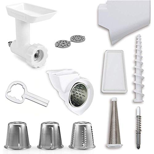 KitchenAid DRTVICE5 (FGA+RVSA+FVSP) Stand Mixer Attachment Pack Food Grinder/Fruit Vegetable Strainer/Rotor Slicer Shredder