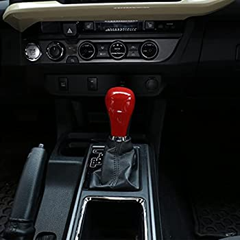 TongSheng ABS Car Gear Shift Knob Head Cover Trim Stickers for Toyota Hilux Tacoma 2015-2020 Pudora 2017-2020 Land Cruiser 2016 Highlander 2014-2017 Red