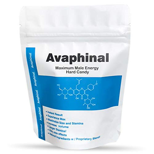 Avaphinal Maximum Male Energy Lozenges - Male Hard Candy - Pack of 10