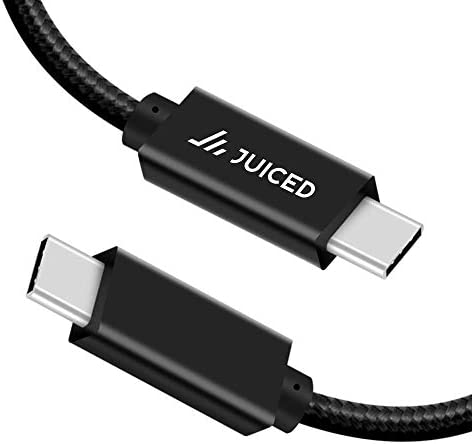 Juiced Systems PowerUp 10 Gbps USB C to USB C Data Transfer Cable Black 6 5ft 2 Meters USB C product image