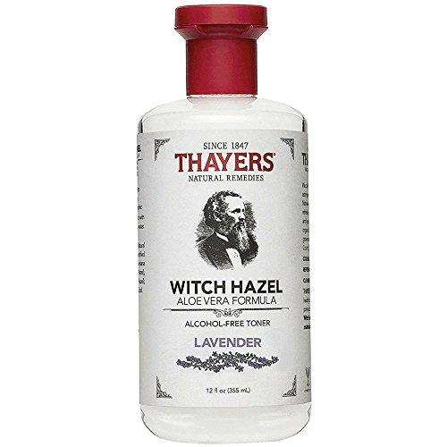 Thayers Alcohol-Free Witch Hazel with Organic Aloe Vera Formula Toner, Lavender 12 oz (Pack of 5)