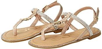 bebe Girls  Sandals ? Rhinestone Studded Snake Sandals with Medallion  Little Kid/Big Kid  Size 13 Rose Gold