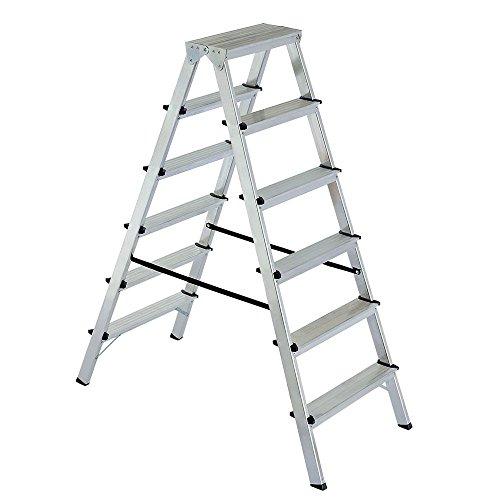 Alu-Klappleiter Doppelleiter Bockleiter Malerleiter Leiter 2x 6 Stufen
