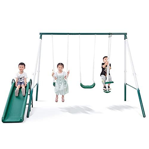 cheapest metal swing set for backyard
