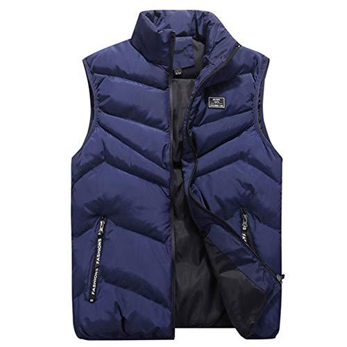 Herren Weste Bodywarmer Steppweste Funktionsweste Outdoor Freizeit Sport Style Mit Stehkragen (Blau,XL)