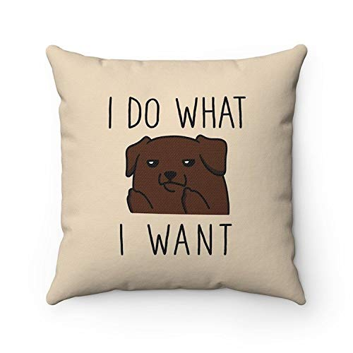 Toll2452 I do what I want Labrador Retriever Pillow Dog Lovers Throw Pillow Covers Pillow Cases Cushion Funny Housewarming gift Home Decor