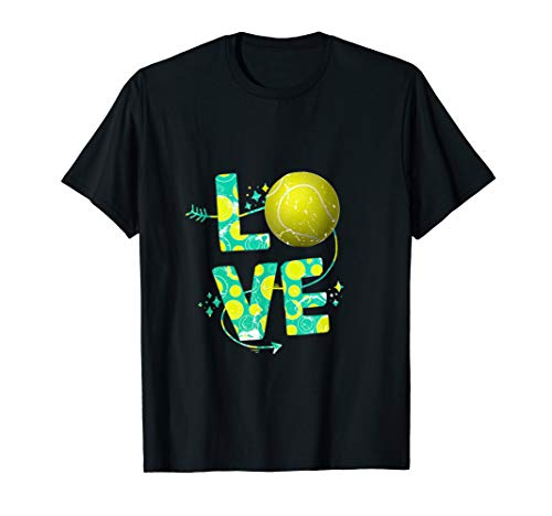 Tennis Love Tennisball Design für Spieler,Trainer,Sportler T-Shirt