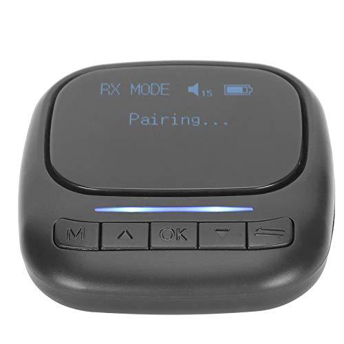 Mxzzand Transmisor Sistema de Sonido Audio Altavoz Auriculares Receptor portátil Bluetooth Visible para PC para TV