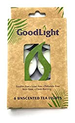 GoodLight Candles Tea Light Unscented, 6 Count, 0.5 Ounce