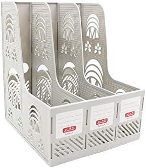Kanqingqing Filing Trays File Holder Desktop Drie Sets Van Holle Gesneden briefpapier Drie Kolommen Bestand Frame