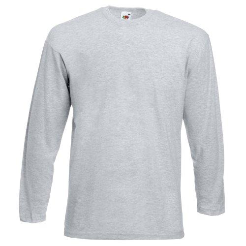 Fruit of the Loom Long Sleeve Valueweight tee Camisa, Negro, Medium para Hombre
