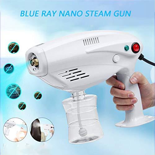 Blue Light Nano Spray Gun, Nano Disinfection Spray Gun Atomizer Spray Disinfection Machine 1200W 300ML Automatic Spray Gun