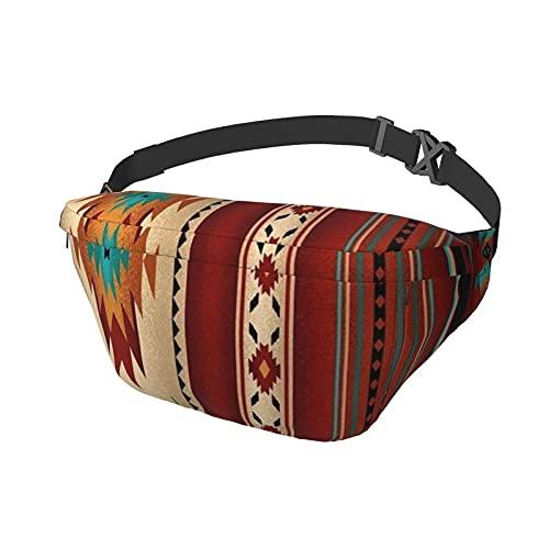 Riñonera Tribal Nativo Indio geométrico suroeste Antiguo Bolso Bandolera Bandolera Mochila Informal en el Pecho Mochila de Cintura