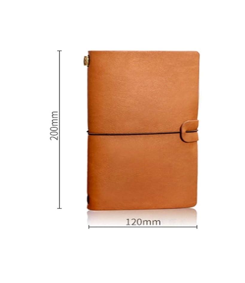 クリエイティブトラベルメモ帳、レトロノート、文房具日記、レザーストラップ、高品質 (Style : E)